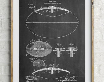 Football Game Ball 1902 Patent Poster, Vintage Football, Unique Gifts for Men, Football Wall Art, Sports Decor, Coach Gift, PP0601