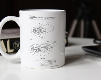 Reversible USB Patent Mug, Technology Mug, Geek Gift, Office Decor, Computer Science, Electrical Engineer, PP1013