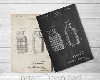 Hand Grenade Printables, Armory, Man Cave, Gun Enthusiast, Military Wall Art, Army Poster, PP0867