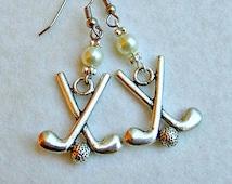 Golf Charm Dangle Earrings, Golf Jewelry, Golf Earrings, Golf Accessories, Golf Women, Golf Gifts, Sports Jewelry, Golf Clubs, Golf Balls