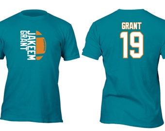 Limited Edition Teal Dolphins Grant Opt 2 Football Shirt All sizes up to Plus 5x