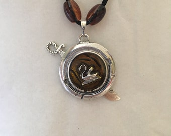 Once Upon A Time Captain Swan Pendant Necklace