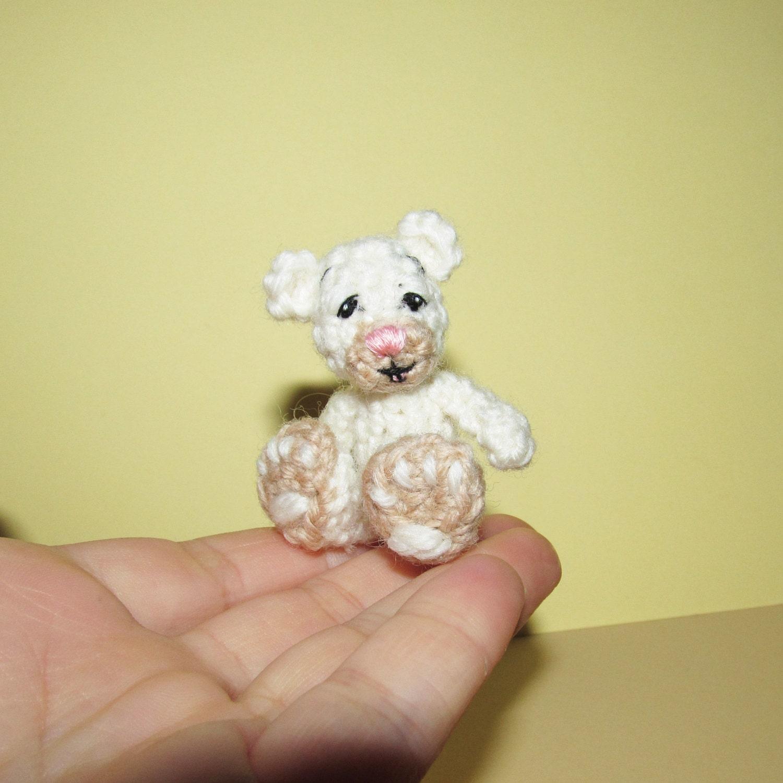 Amigurumi Mini Bear : Miniature crochet bear amigurumi bear miniature amigurumi