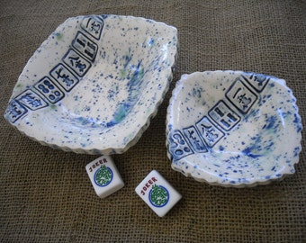 Two Piece Mahjong Bowl Set  - Mahjong Bowls - Oriental Dishes