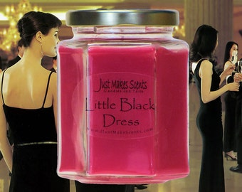 Little Black Dress Scented Soy Candles - Free Shipping on Mix & Match Orders of 6 or More - Blended Soy Candles