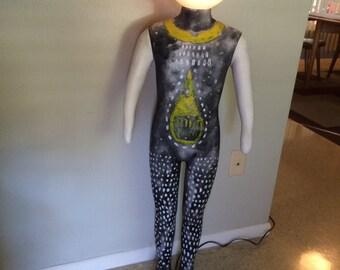 Steampunk Floor Lamp Full Body Boy Mannequin Art Light 12V Fiber Glass  Jointed