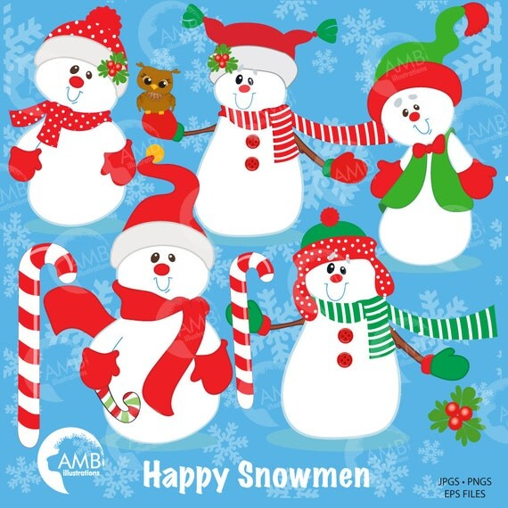 Snowman Clipart Christmas Holiday Candy