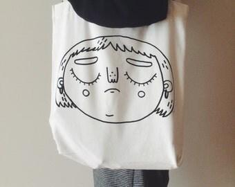 Sad Penelope Tote Bag    cute tote bag, tote bag, sad tote bag, cute bag, sad tote, tote bag