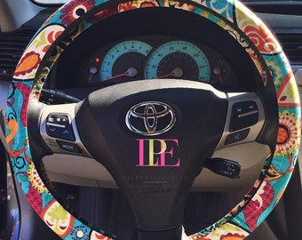 Funky Paisley Steering Wheel Cover