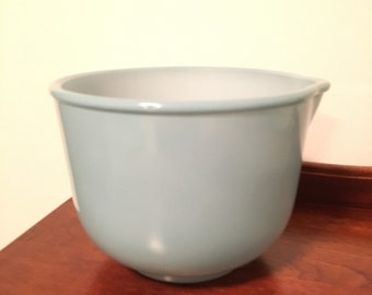 Vintage Glasbake Turquoise Mixing Bowl For Sunbeam Stand Mixer RARE