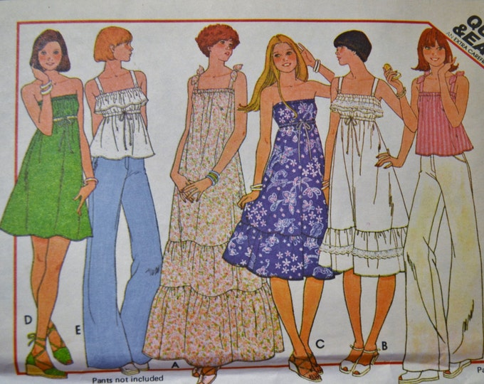 McCalls Sewing Pattern 5548 Misses Dress or Top Size Small Fashion Clothing DIY  PanchosPorch