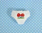 Cute Mushroom Panties for Neo Blythe Doll