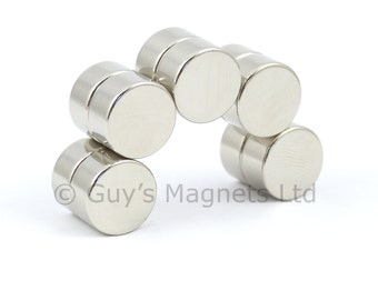 12mm x 6mm strong N35 neodymium round circular disk magnets, craft, DIY, joinery, cabinet making, woodwork GuysMagnets