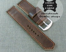 24mm vegetable tanned,leather panerai strap,watch band,leather watch band,24mm watch straps, vintage strap,24mm brown strap,vegetable tanned