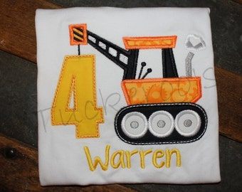 Construction truck birthday shirt