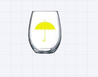How I Met Your Mother stemless wine glass