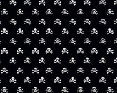 Half Yard Military Max - Military Skulls in Black - Cotton Quilt Fabric - by Bella Blvd. for Riley Blake Designs - C4373-BLACK (W3261)