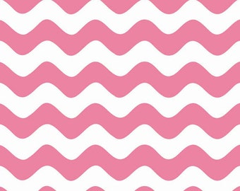 Half Yard Wave - Waves in Hot Pink - Cotton Quilt Fabric - RBD Designers for Riley Blake Designs - C415-70 (W3284)