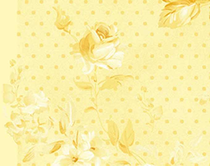 Half Yard Zoey - Morning Dew in Corn Silk Yellow - Floral Cotton Quilt Fabric -Eleanor Burns for Benartex Fabrics - 711-30 (W3497) Christine