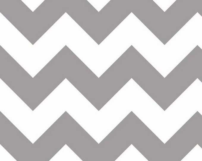 One Yard Large Chevron - Large Chevron in Gray (Taupe) - Cotton Quilt Fabric - C330-40 - by RBD Designers for Riley Blake Designs (W3307)