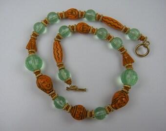 On Sale Original Design Necklace Using Vintage Beads
