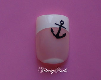 Anchor Nail Art Decals Set of 20 Vinyl Stickers Applique Manicure Pedicure Party Event Accessories