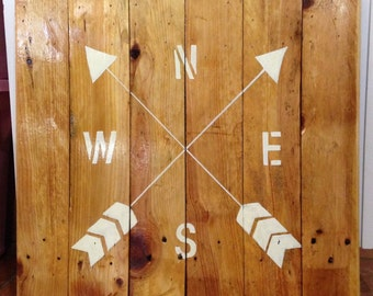 Wood Compass Wall Hanging