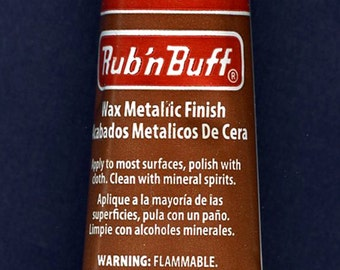 Ruby 76334W ~ Amaco Rub 'N Buff Uncarded Wax Metallic Finish Crafts etc