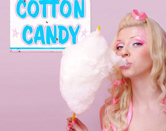 Cotton Candy Carnival Treat Metal Sign - #58425