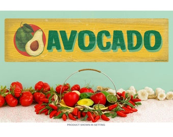 Avocado Farm Stand Vegetable Wall Decal - #72459