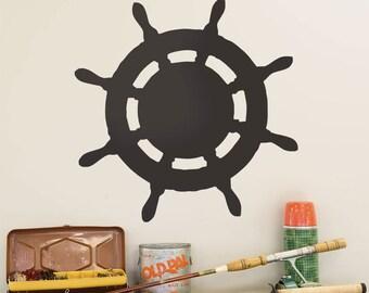 Ships Wheel Cutout Chalkboard Wall Decal - #51835