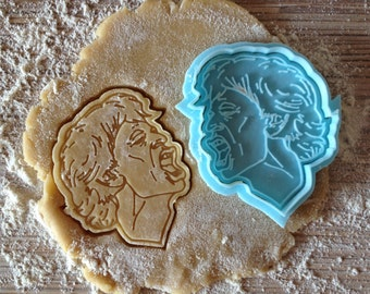 Mick Jagger cookie cutter. Rolling Stones cookie stamp