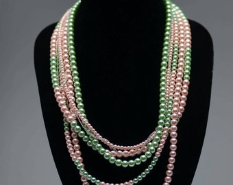 Alpha Kappa Sorority  pearl strands Earrings  sold for  7.00 extra.