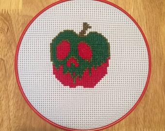 Snow White Poison Apple Disney Grunge Cross Stitch