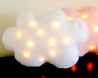 Light as a Cloud cushion, Cushion Fairy Light, Cloud bedroom decor, children's nightlight, modern nursery decor
