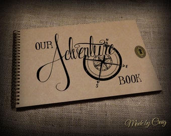 Our Adventure Book, Scrapbook, Photo Album, Journal, Diary, Photo Book, Honeymoon Gift Idea, Holiday, Travel/Road Trip, Disney Up,