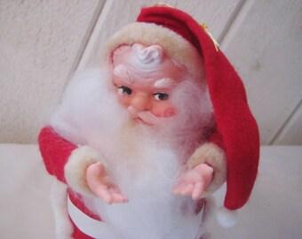 Vintage Santa Clause, poseable Santa, vintage Christmas decor, Santa ornament, figurine, statue, 963