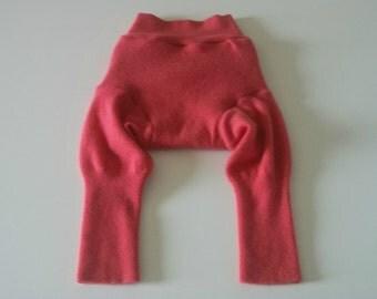 MEDIUM 100% Wool Diaper Cover, Upcycled Wool Soaker, Wool Longies