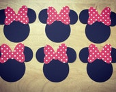Disney Minnie Mouse Cut Outs with Bows (Various Sizes and Colors Available)