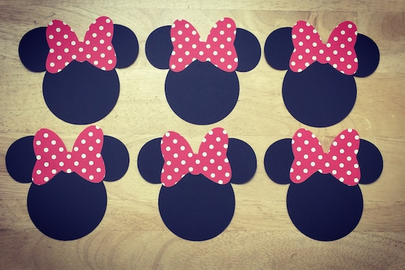 Minnie Mouse Ear cut outs Cardstock on Etsy