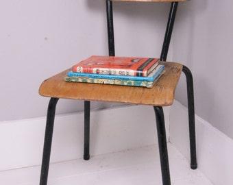 Children's Vintage Black Metal Legged Chair - Children's Furniture