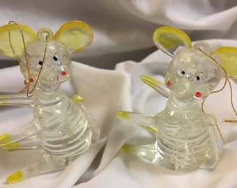 Vintage Lucite Ornaments, Christmas Animals (9)