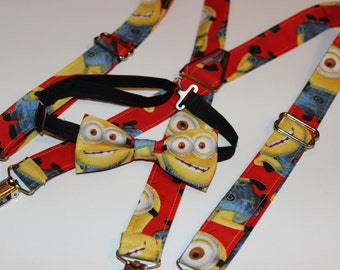Minions Suspenders Only