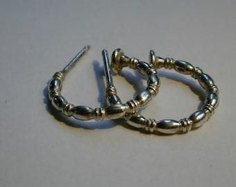 Sterling Silver earring hoops