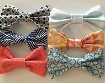 Baby bow ties 6 pack alligator clip