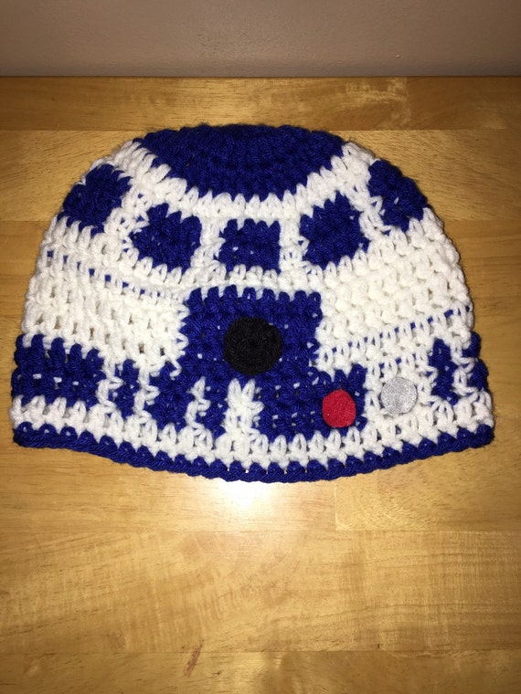 Knitting Pattern For R2d2 Hat : Crochet R2D2 hat