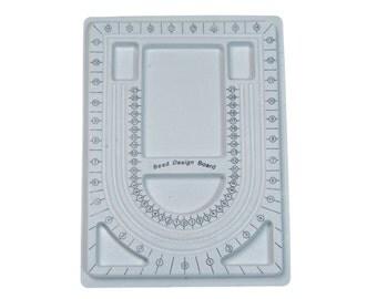 bead board - jewelry beading board - grey necklace design board - bracelet design board - jewelry making tray - jewelry design tool - 1 pc