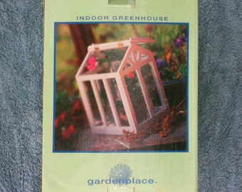 Small Indoor Greenhouse Kit 12 x 9 by x 13 3/4 Plant Starter Seed Starter Wood and Plexiglas Flip Up Top or Removable Top Deserdog Destash