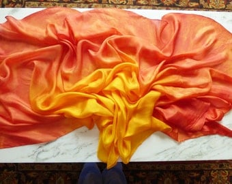 Silk Bellydance Veil Tie Dye Silk Veil