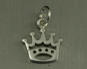 Sterling Silver Crown Charm--Princess Pendant--Queen Charm--Royalty Pendant--Kingdom Living--Fit for a Queen--Palace Charm--Castle Life